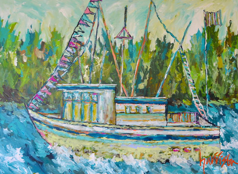 Out On the Water 48 x 36