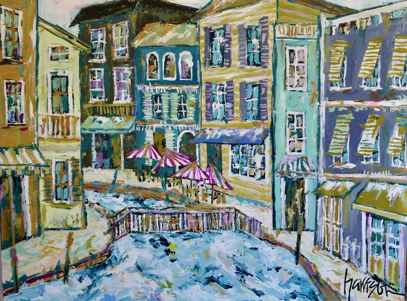 STROLLIN' BY THE CANAL 48x36