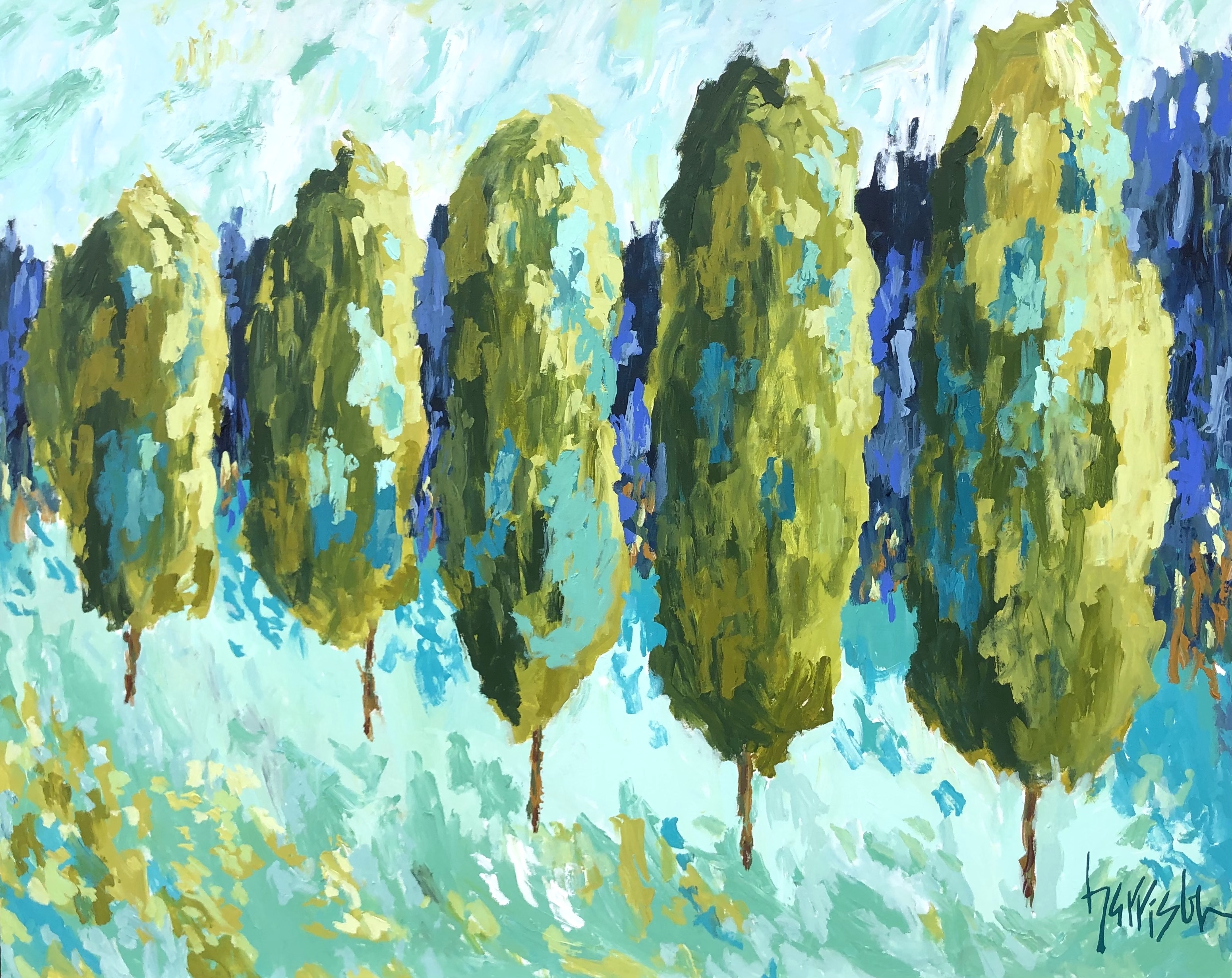 """Winds of Provence 16 - 60""""w x 48""""h"""