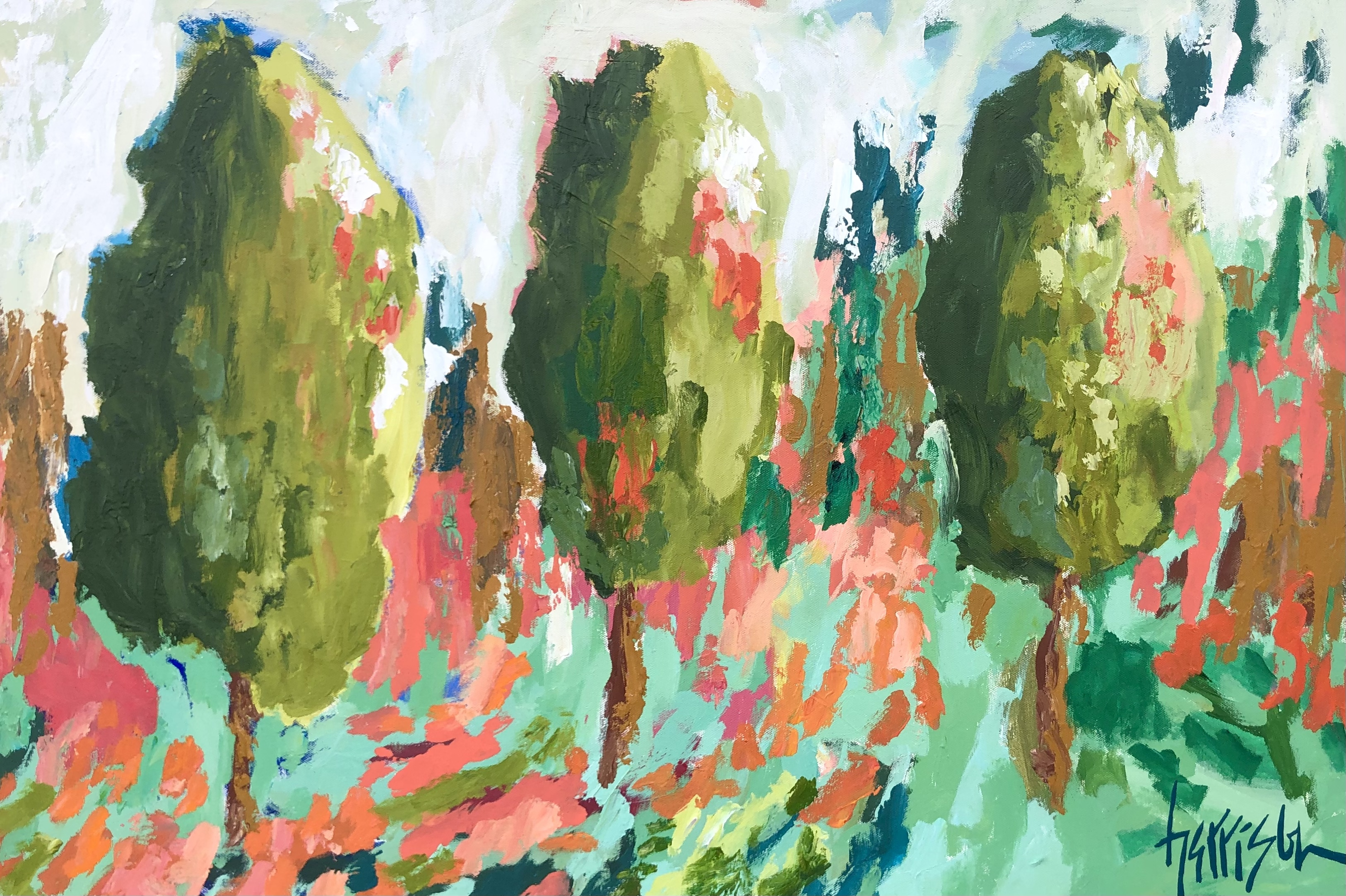 """Winds of Provence 5 - 36""""w x 24""""h"""