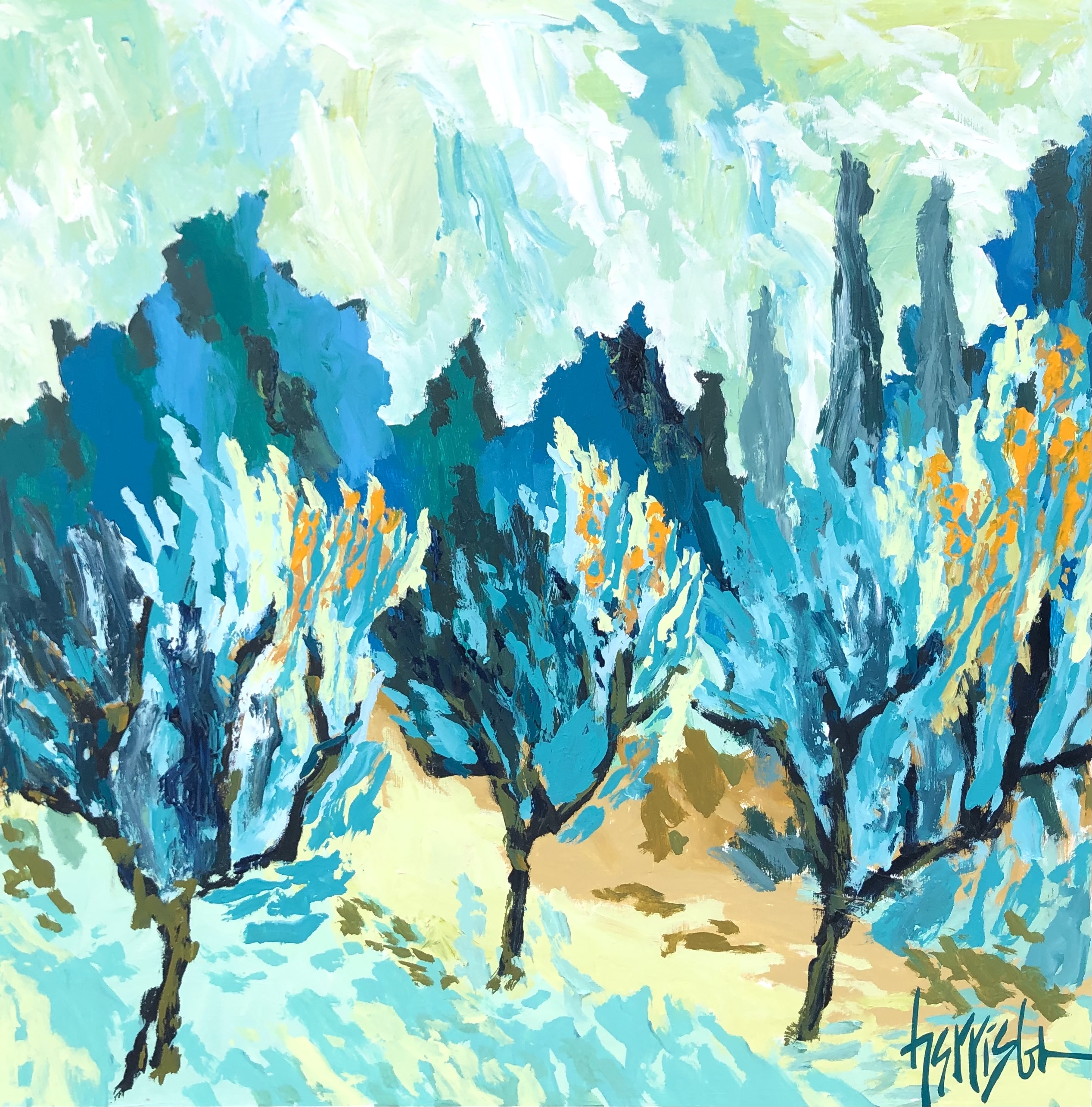 "Winds of Provence 9 - 30""w x 30""h"