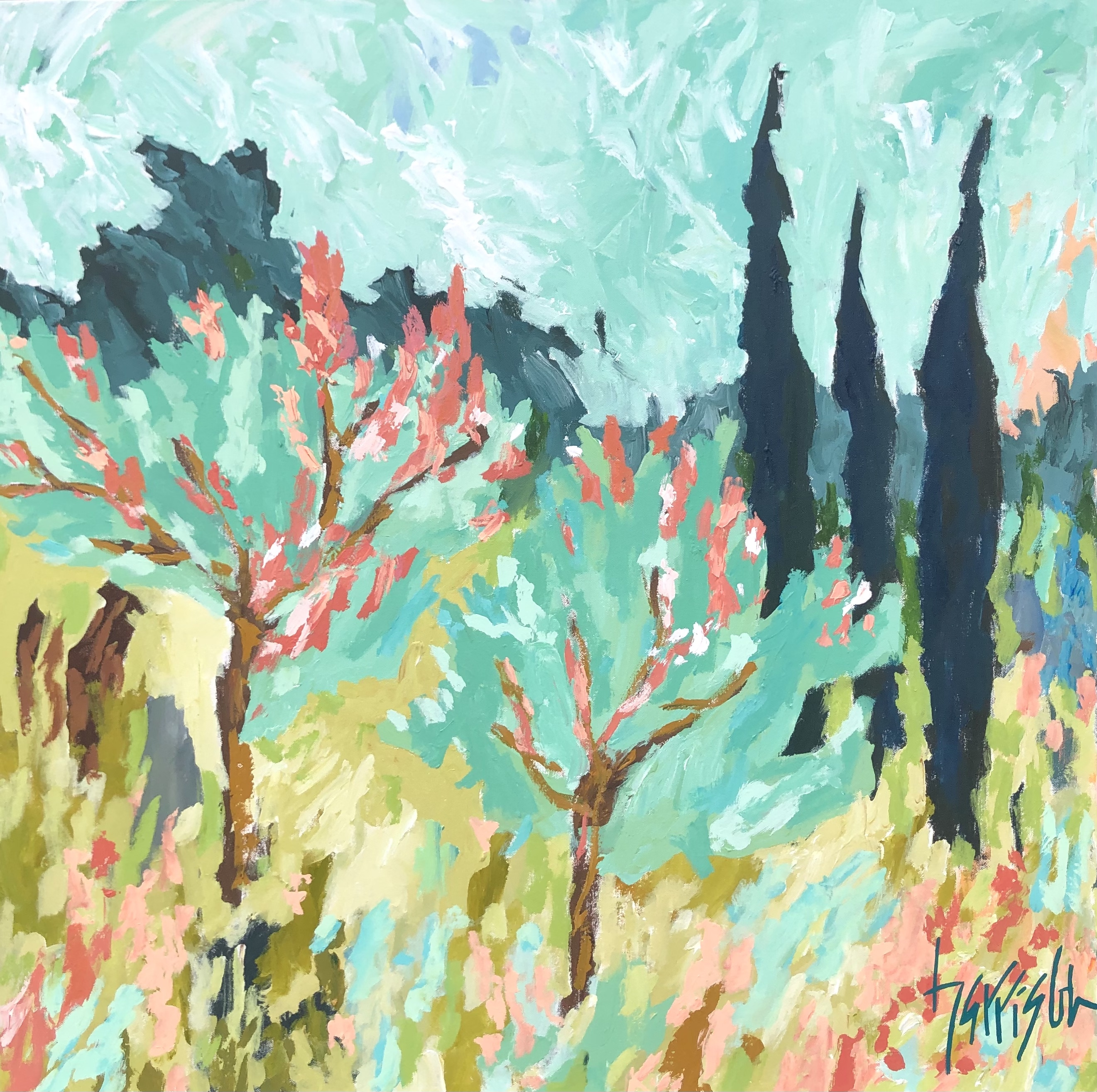 """Winds of Provence 15 - 36""""w x 36""""h"""
