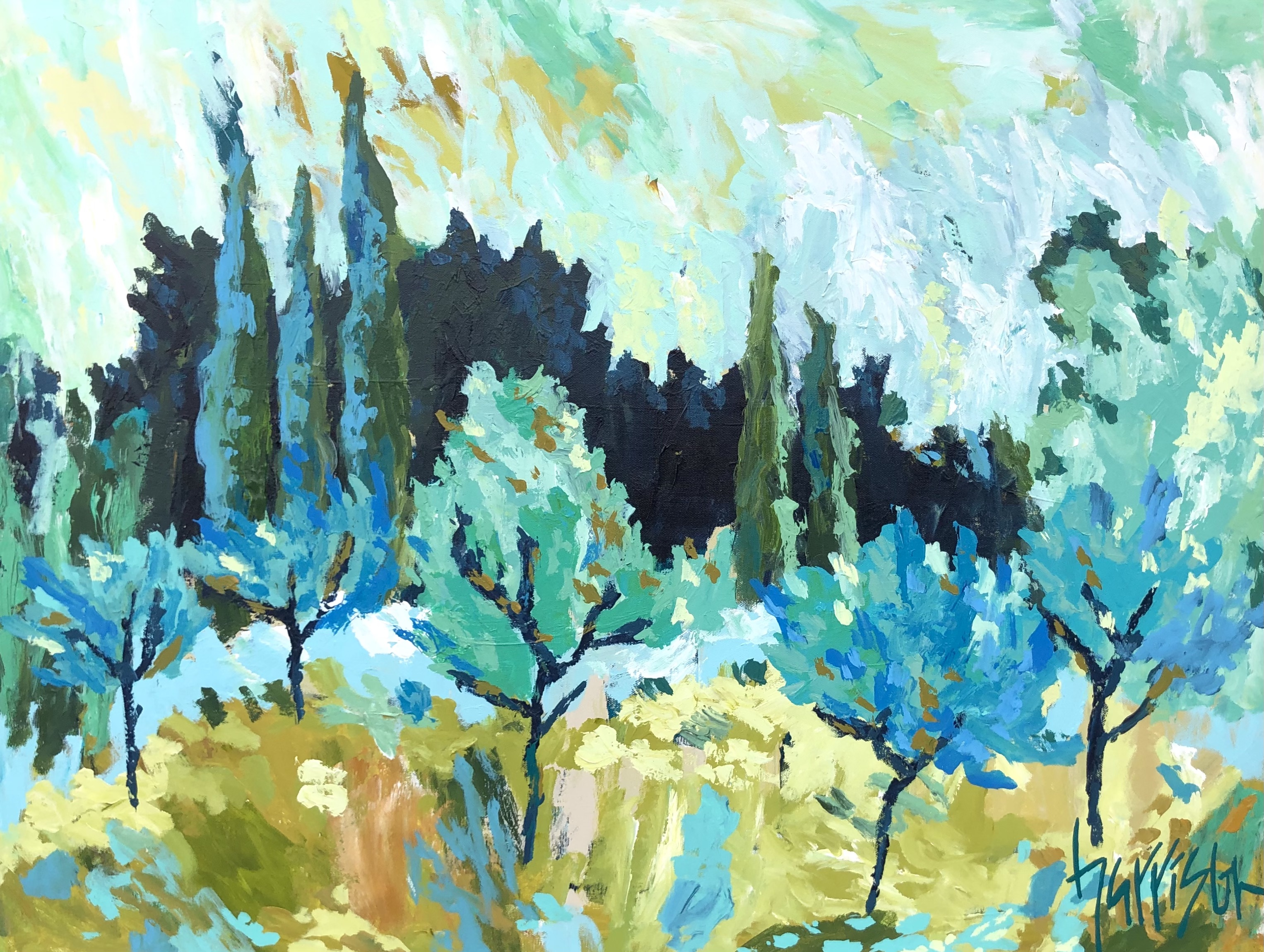 "Winds of Provence 13 - 40""w x 30""h"