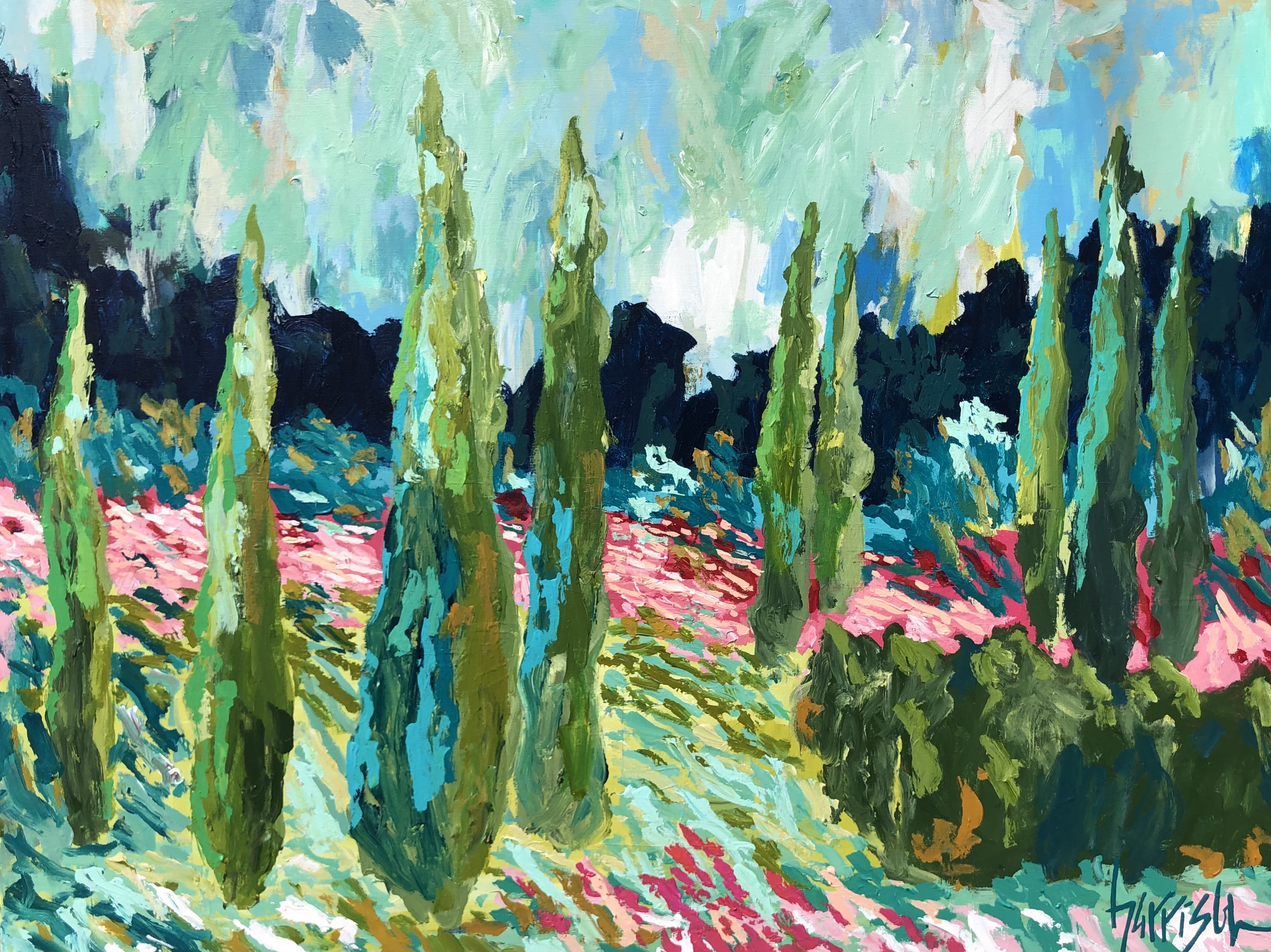 """Winds of Provence 12 - 40""""w x 30""""h"""