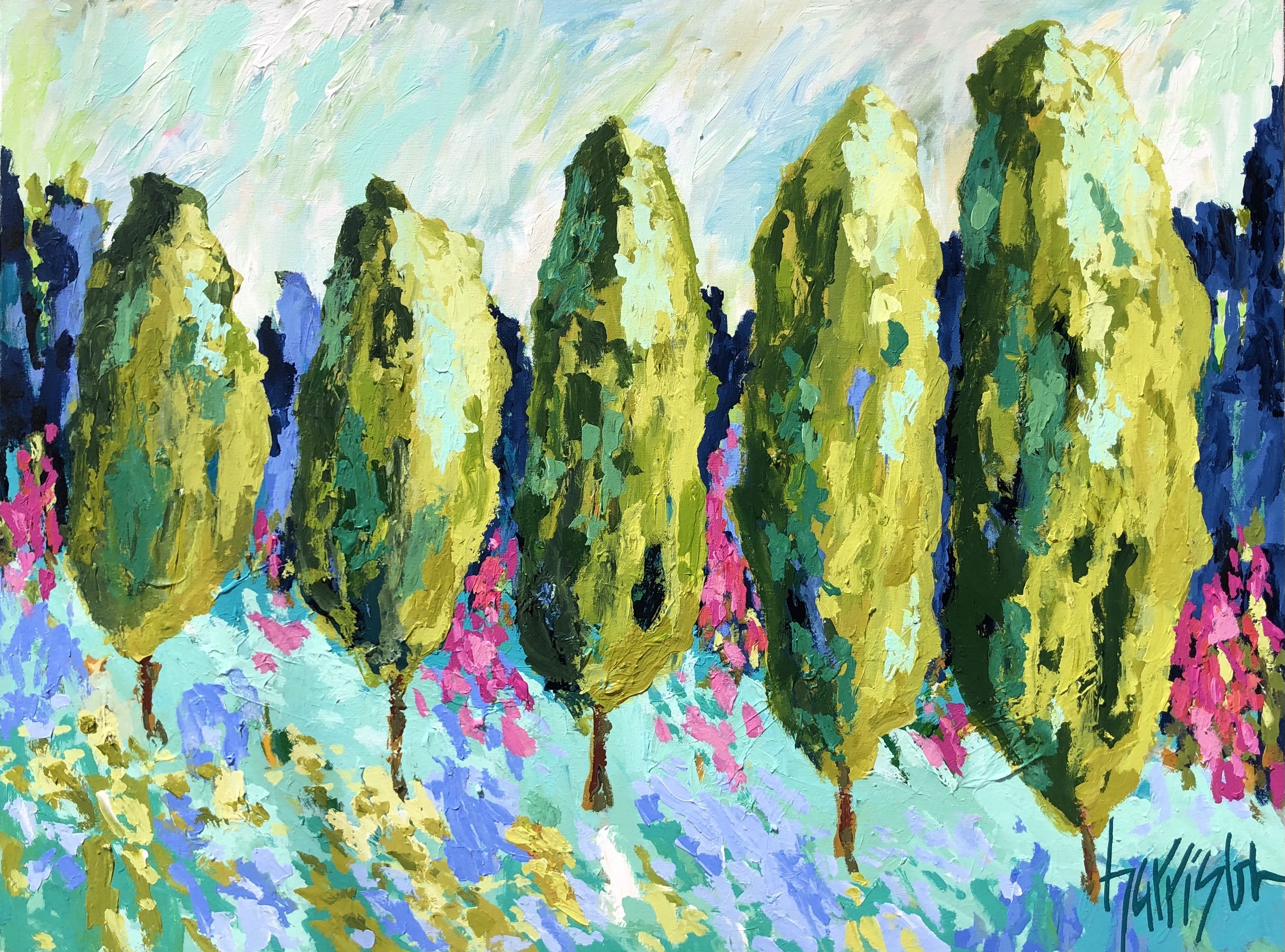 """Winds of Provence 10 - 40""""w x 30""""h"""