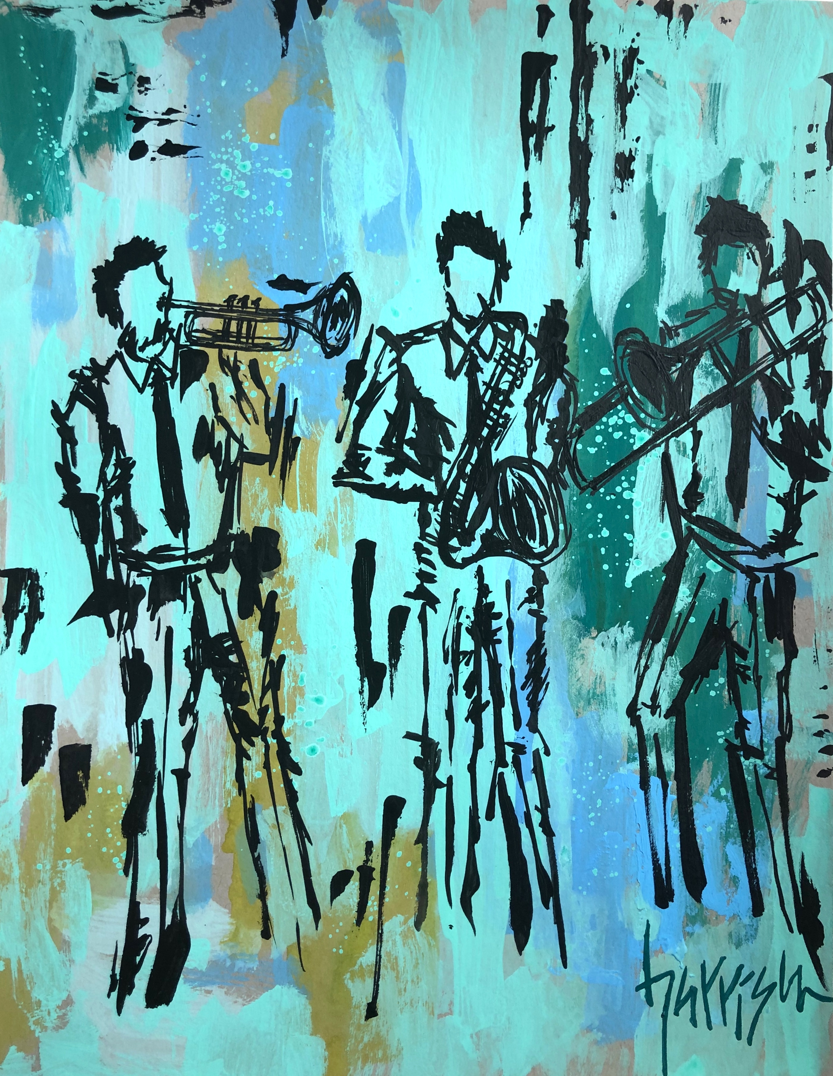 """DON'T STOP THE MUSIC 11"""" x 14"""""""