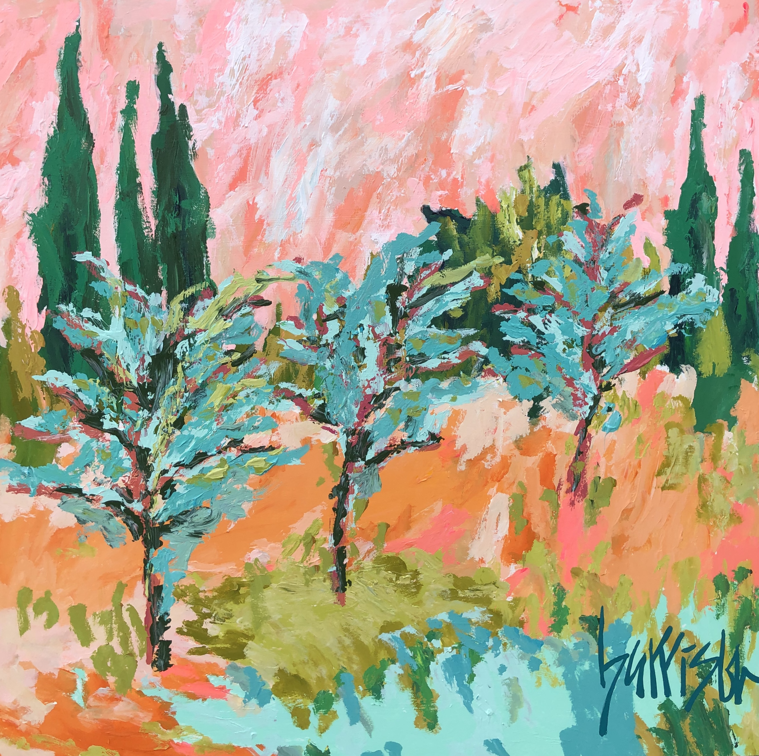 FIELDS OF PROVENCE 6 - 36x36