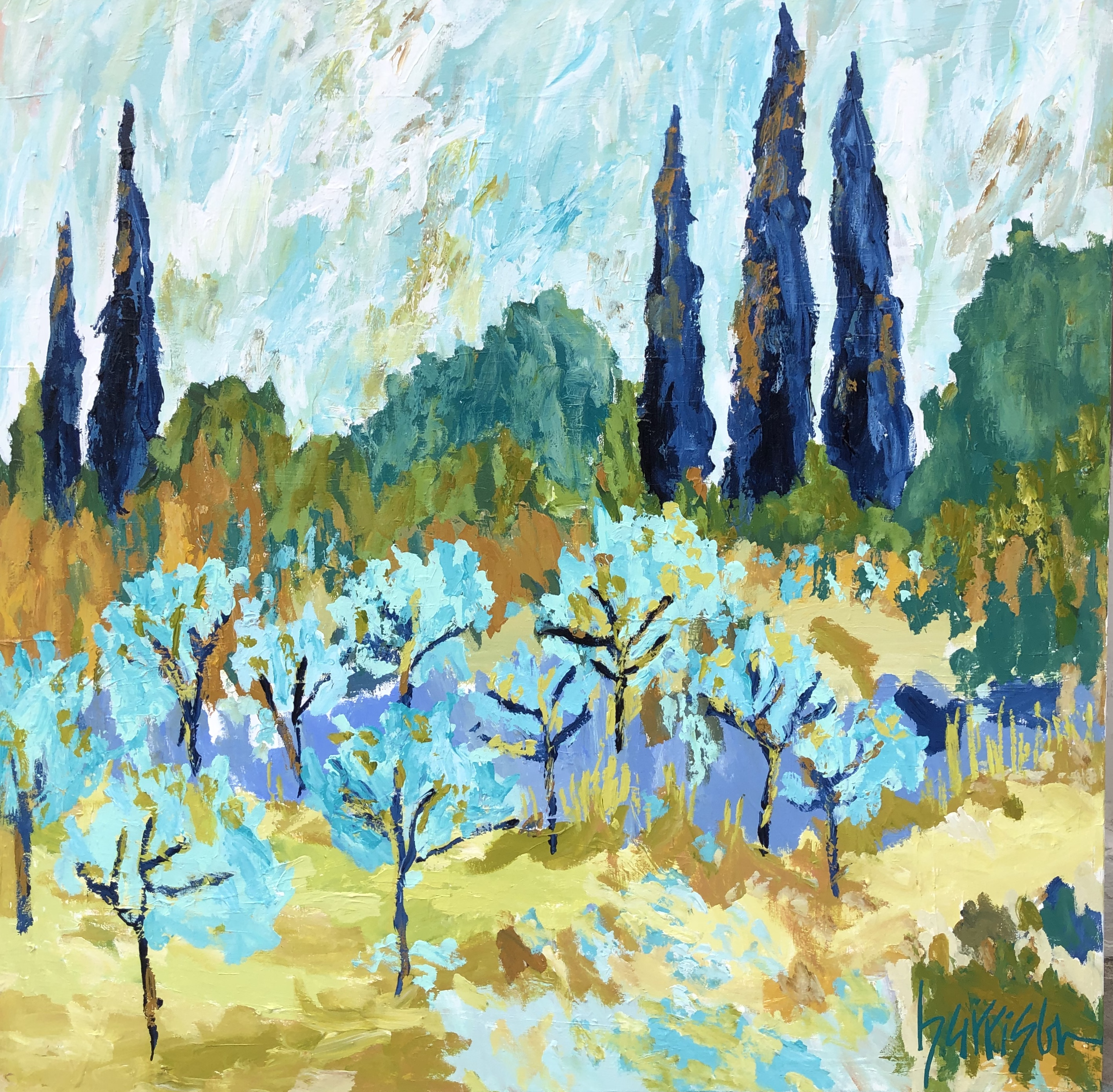 FIELDS OF PROVENCE 9 - 48x48