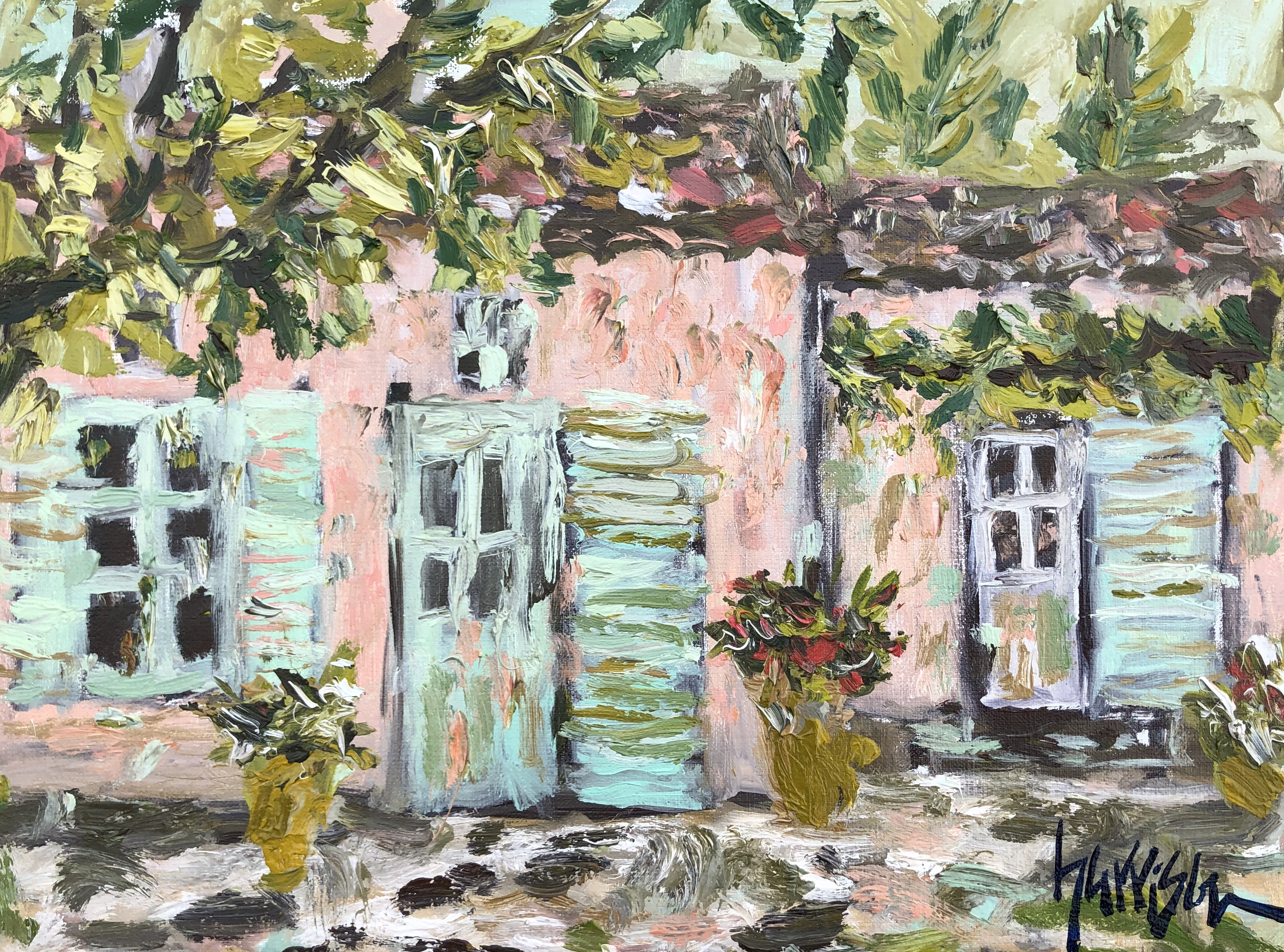 AFTERNOON PAINTING IN AIX - 13x16