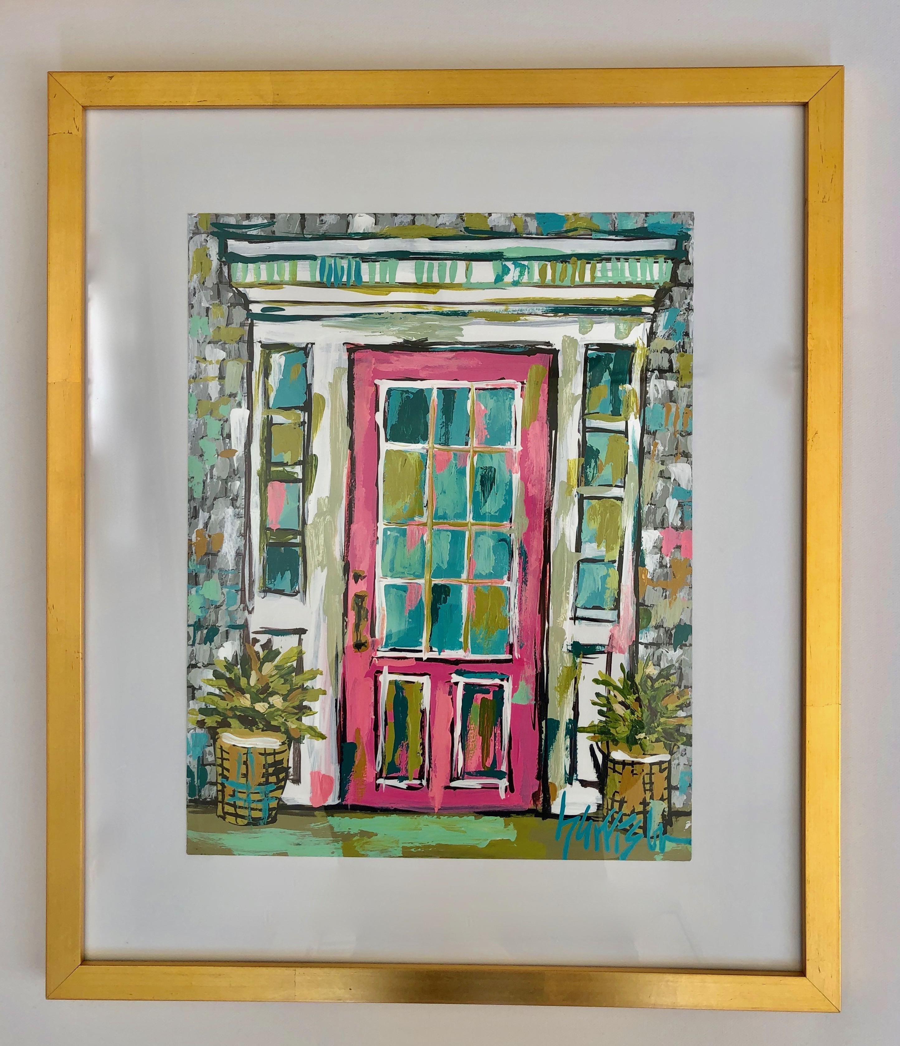 NANTUCKET DOOR 3 original, framed