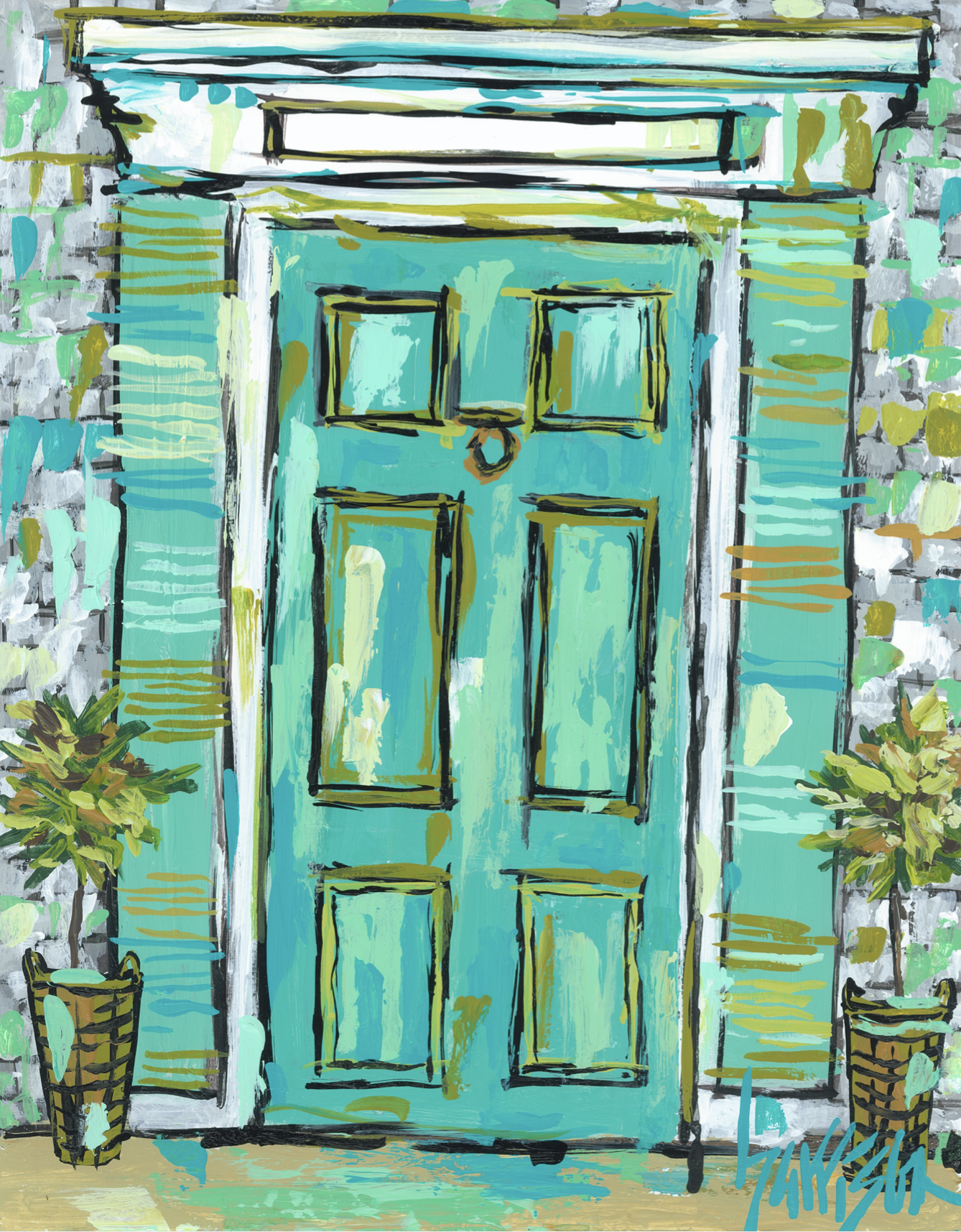 NANTUCKET DOOR 4 Print