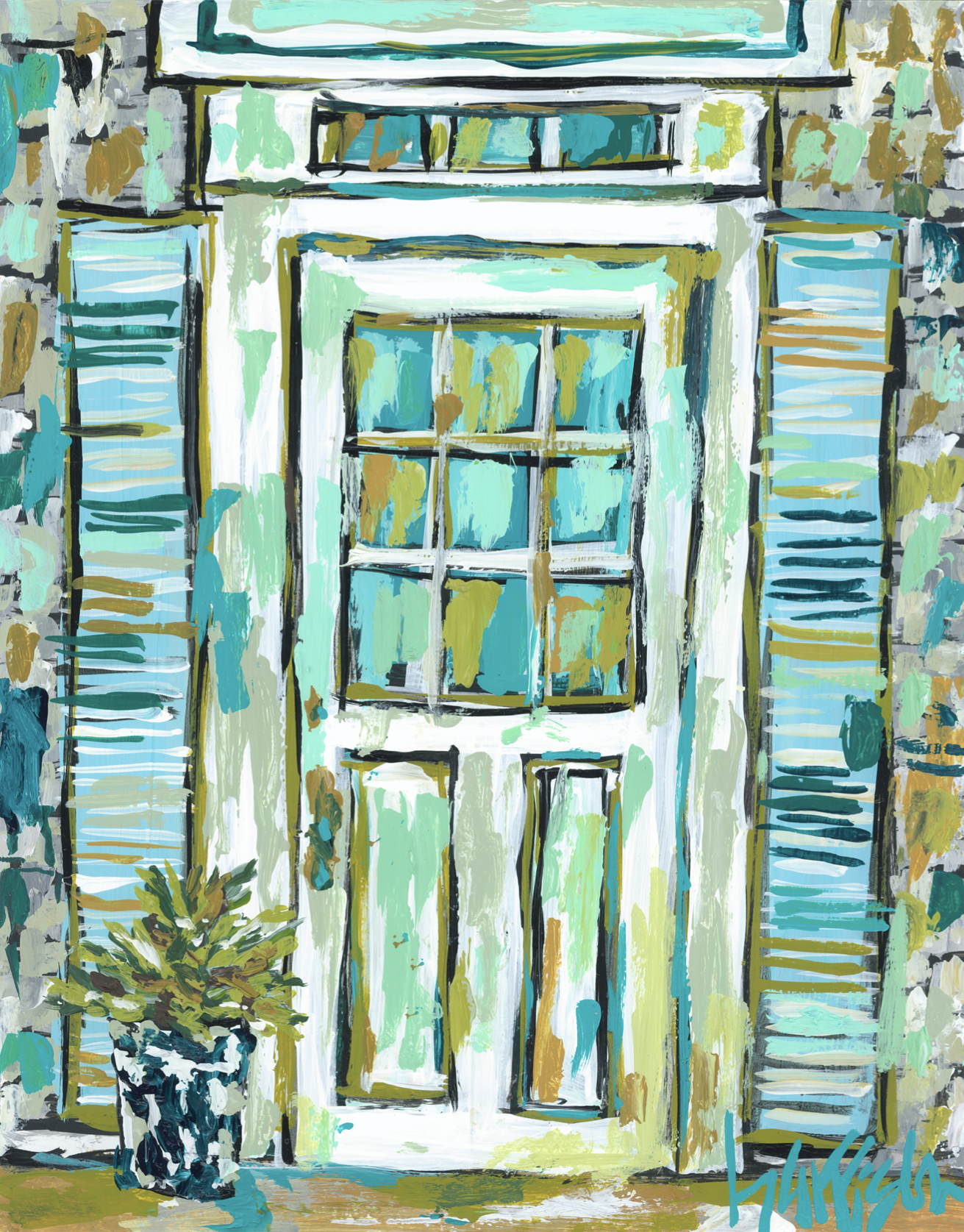 Nantucket Door 2 Print