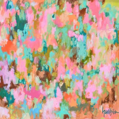 """Pink House 48""""w x 48""""h"""